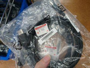 HDMIケーブル108円